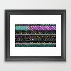 Glitch Nature Framed Art Print