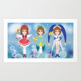 Mini Me Stars: Cardcaptor Sakura Art Print