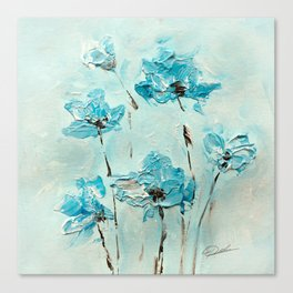 Flowers (in acrylic paint) Canvas Print