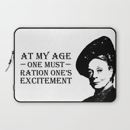 At my age one must ration one's excitement Laptop Sleeve