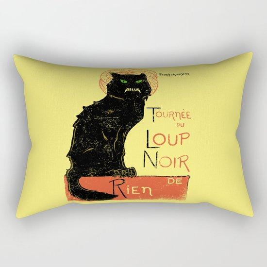 Loup Noir Rectangular Pillow