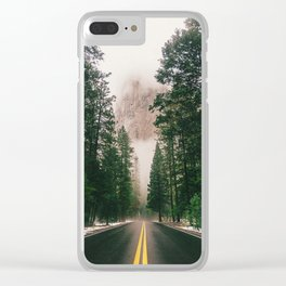 On the Road III / Yellowstone Clear iPhone Case