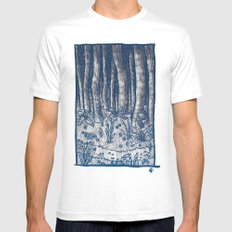Oregon Forest Mens Fitted Tee White MEDIUM