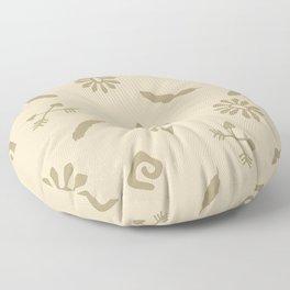 Cute Abstract Symbols Floor Pillow