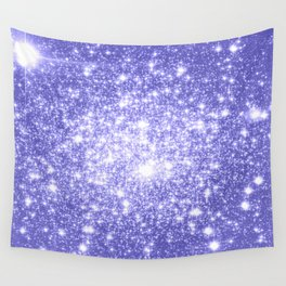 Lavender Periwinkle Sparkle Stars Wall Tapestry