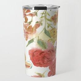 Dahlias and Floral Snippets Travel Mug
