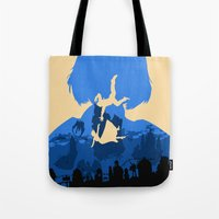 bioshock infinite Tote Bags featuring Bioshock Infinite Elizabeth by Bill Pyle