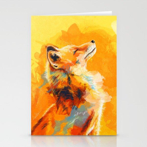 Blissful Light - Fox portrait Stationery Cards