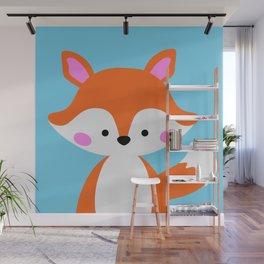 Cute fox Wall Mural
