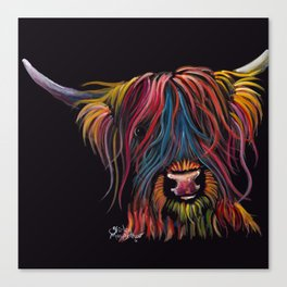 Scottish Hairy Highland Cow ' SWEET P ' by Shirley MacArthur Canvas Print