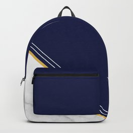Double Marble - Blue Gold Stripes Backpack