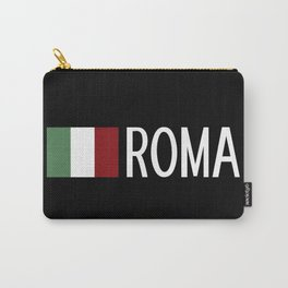 Italy: Italian Flag & Roma Carry-All Pouch