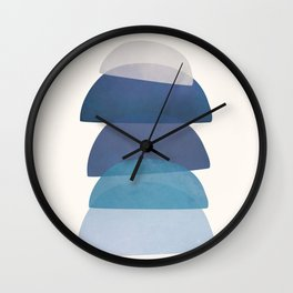 Blue Stack 03 Wall Clock