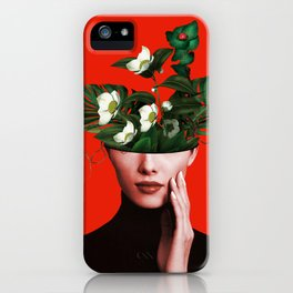 Lady Flowers Xl iPhone Case