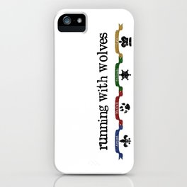 Running With Wolves v2 iPhone Case
