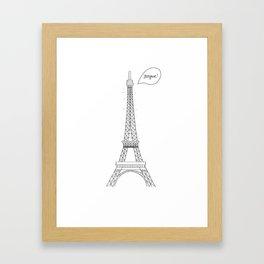 Bonjour Paris! Framed Art Print