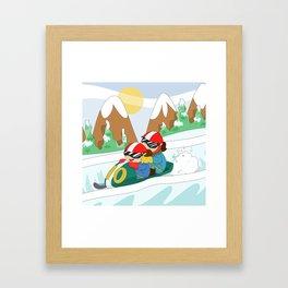 Winter Sports: Bobsleigh Framed Art Print