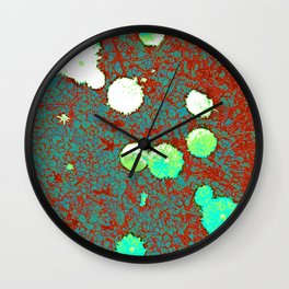 Enchanted Flowers Wall Clock