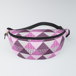 Triangle Quilt in Pink & Purple Fanny Pack