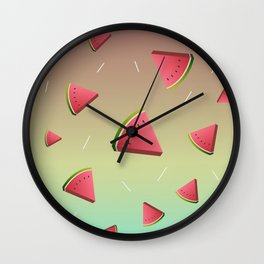 Watermelon slices pattern illustratuon Wall Clock