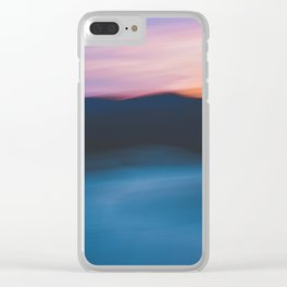 Mountain Sunset Abstract Clear iPhone Case