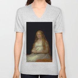 """Francisco Goya """"Josefa de Castilla Portugal y van Asbrock de Garcini"""" Unisex V-Neck"""