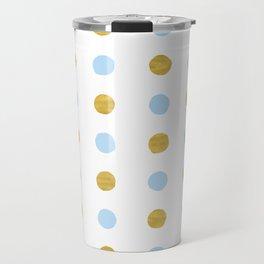 Dalmatian - Blue & Gold Foil #447 Travel Mug