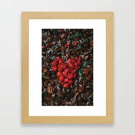 Flower Heart Love Framed Art Print