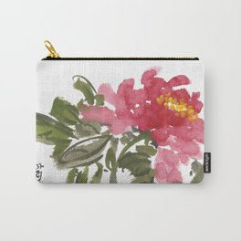 Peony One Carry-All Pouch