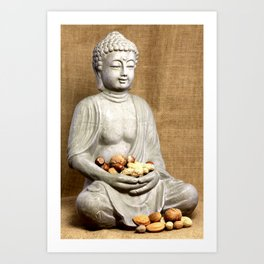 Nuss Buddha Art Print