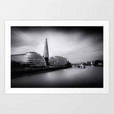 London City and The Shard.  Art Print