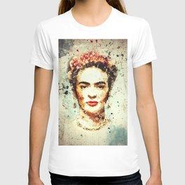 Frida Kahlo Watercolor Art T-shirt