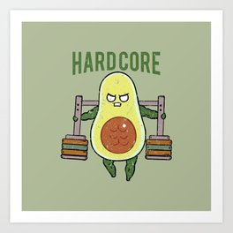 Hardcore Avocado Art Print