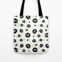 Soot Sprite with stars Tote Bag