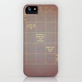 Beckett Bingo iPhone Case