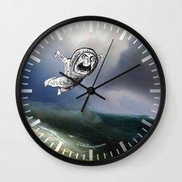 Le bébé moustachu - 2 Wall Clock