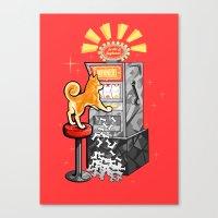 shiba Canvas Prints featuring Shiba Slots by  terrorbunnystudios