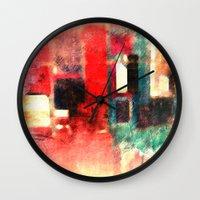 circus Wall Clocks featuring Circus by Fernando Vieira
