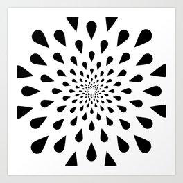 Trance Teardrops Art Print