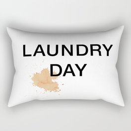Laundry Day Tomato Sauce Stain on White Tee Rectangular Pillow
