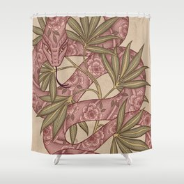 The snake Shower Curtain
