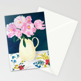 Peonies at Spring's End Stationery Cards