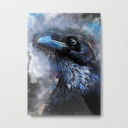 Crow art #crow #bird #animals Metal Print