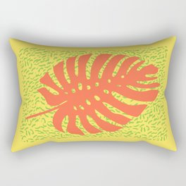 Memphis Monstera Firea Rectangular Pillow