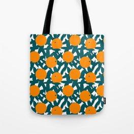 Art Deco Minimalist Orange Grove Tote Bag