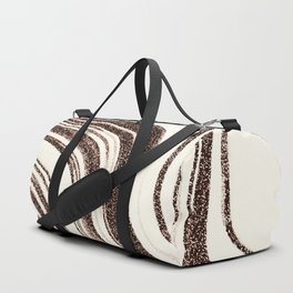 Textured Marble - Brown & Cream Duffle Bag