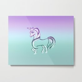 Unicorn #2 #drawing #decor #art #society6 Metal Print
