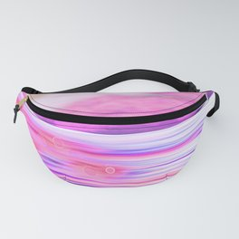 ABSTRACT OCEAN PINK HORIZON Fanny Pack