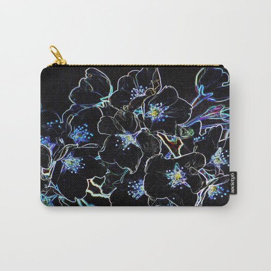 FLOWERS AT MIDNIGHT Carry-All Pouch