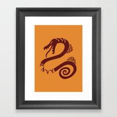 The Serpent's Sin of Envy Framed Art Print
